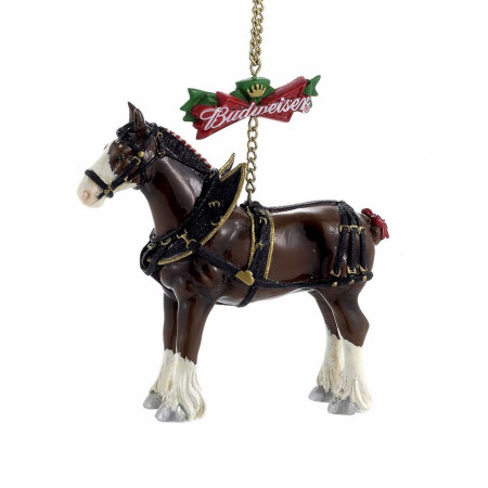 Budweiser Beer Clydesdale Holiday Ornament.