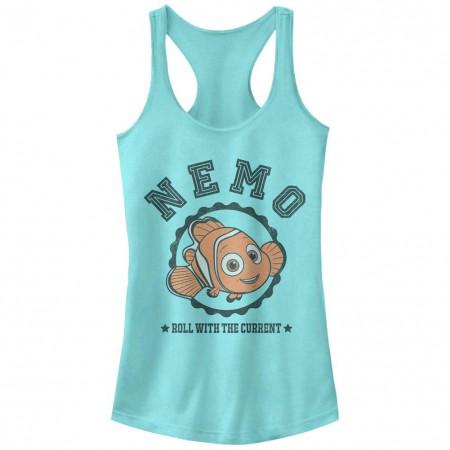 Disney Pixar Finding Dory Nemo Varsity Blue Juniors Racerback Tank Top