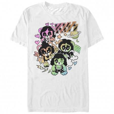 KISS Bears White T-Shirt