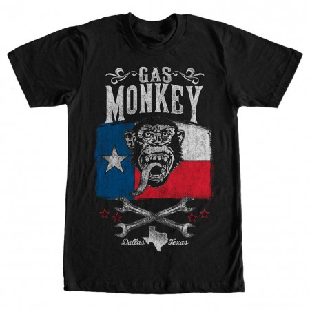 Gas Monkey Garage Lone Star Black T-Shirt