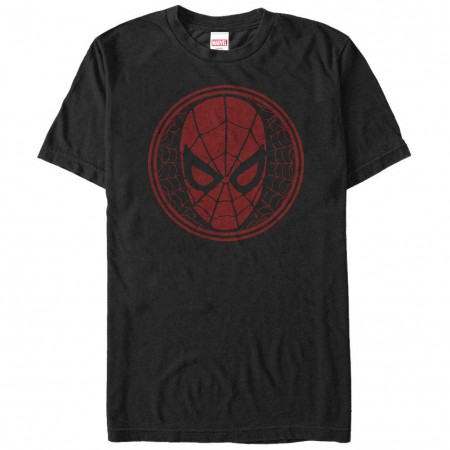 Spiderman SpiderWeb Icon Black Mens T-Shirt