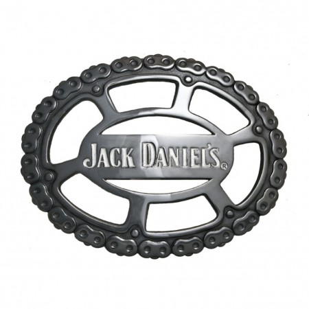 Jack Daniels Chain Link Belt Buckle