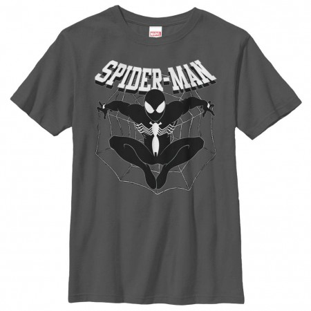 Spider-Man Web Of Spidey Gray Youth T-Shirt