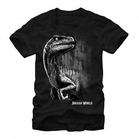 Jurassic World Raptor Smile Black T-Shirt