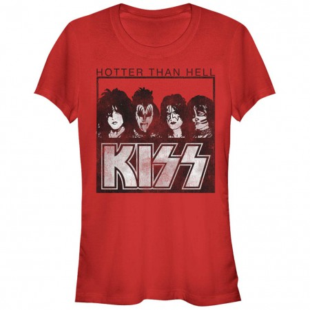 KISS Hotter Than Hell Red T-Shirt