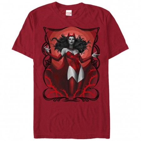 Marvel Teams Scarlet Red Red Mens T-Shirt