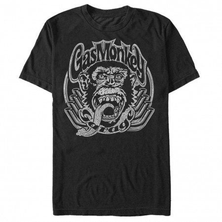 Gas Monkey Garage Header Monkey Black T-Shirt