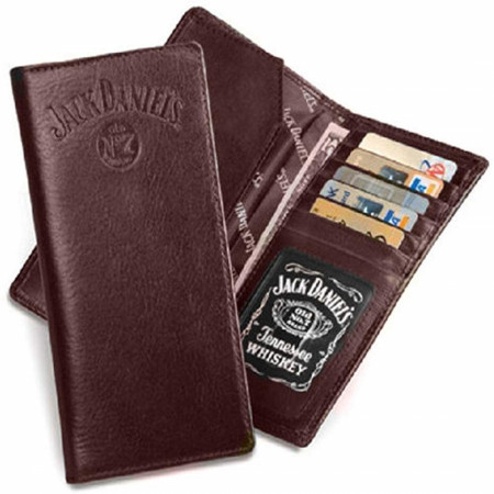 Jack Daniel's Rodeo Style Brown Leather Wallet