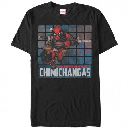 Deadpool Chimichangas Black Mens T-Shirt