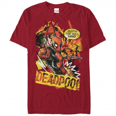 Deadpool Scribbles Red Mens T-Shirt