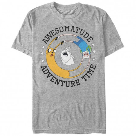 Adventure Time Awesomeatude Gray T-Shirt