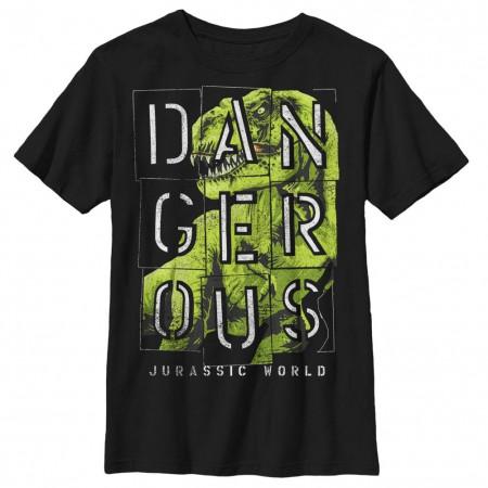 Jurassic World Dangur Black Youth T-Shirt