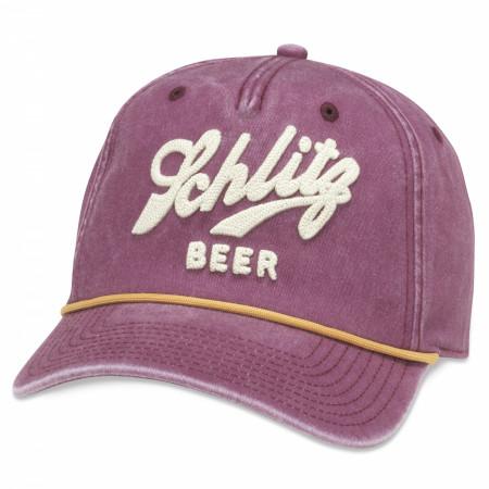Schlitz Beer Embroidered Logo Snapback Hat