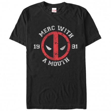 Deadpool Merc Black Mens T-Shirt