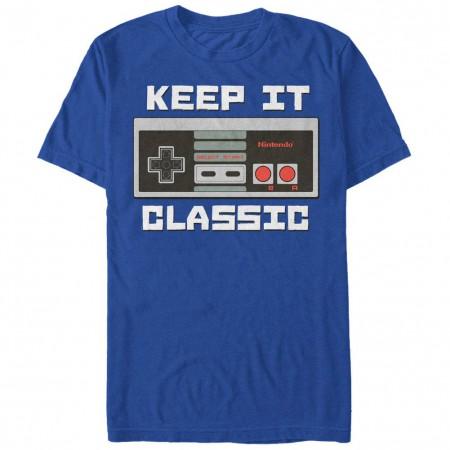 Nintendo Keep it Classic Blue T-Shirt