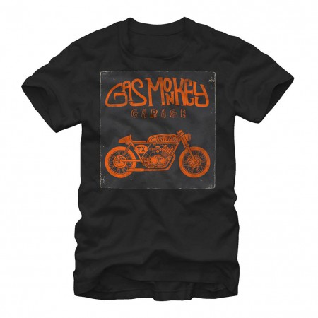 Gas Monkey Garage Custom Motorcycle Black T-Shirt