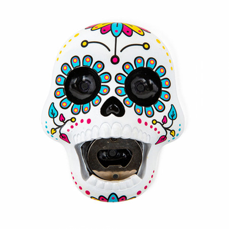 Sugar Skull Wall-Mounted Bottle Opener