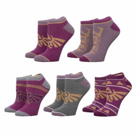Zelda Twilight Princess 5-Pair Pack Ankle Socks
