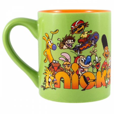 Nickelodeon 90's Logo & Characters Green Mug