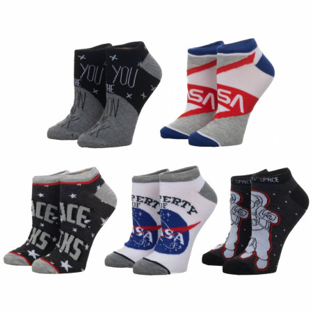 NASA 5-Pair Pack Junior Ankle Socks