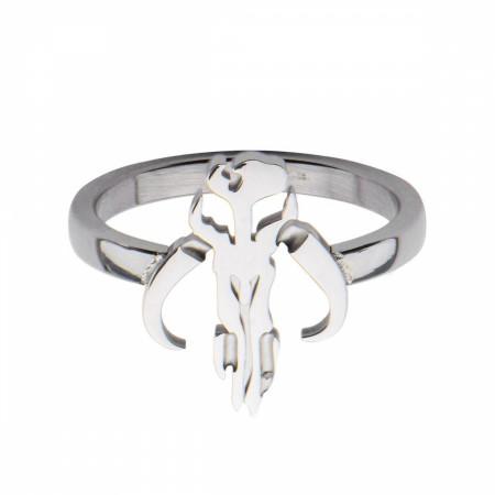 Star Wars Mandalorian Symbol Cut Out Petite Ring