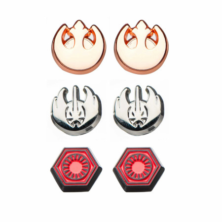 Star Wars Rebel, Jedi, and First Order Steel Stud Earrings Set