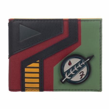 Star Wars Mixed Material Boba Fett Bifold Wallet