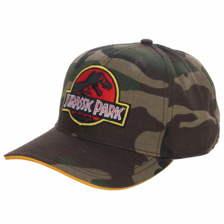 Jurassic Park Camo Adjustable Snapback Hat