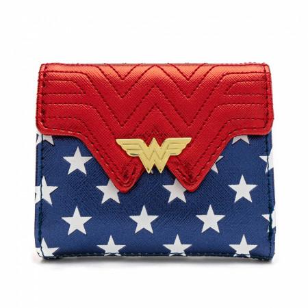Wonder Woman Loungefly Metallic Faux Leather Wallet