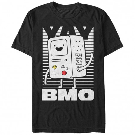 Adventure Time Yay BMO Black T-Shirt