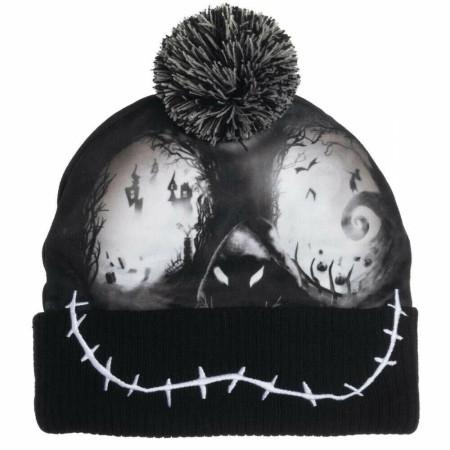 Nightmare Before Christmas Black Skull Beanie