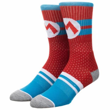Super Mario Bros Mesh Athletic Crew Socks