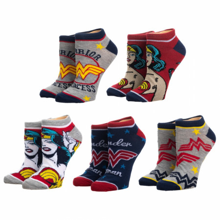 Wonder Woman 5-Pack Ankle Socks