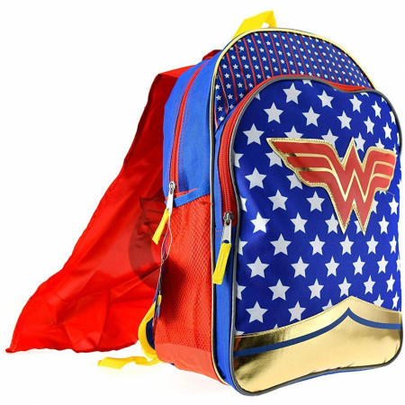 Wonder Woman Girls Backpack w/Detachable Cape