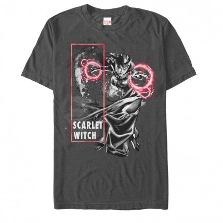 Marvel Teams Scarlet Blast Gray Mens T-Shirt