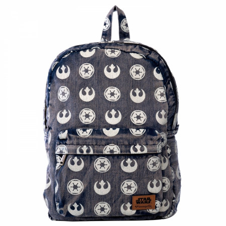 Star Wars Logos Denim Printed Backpack