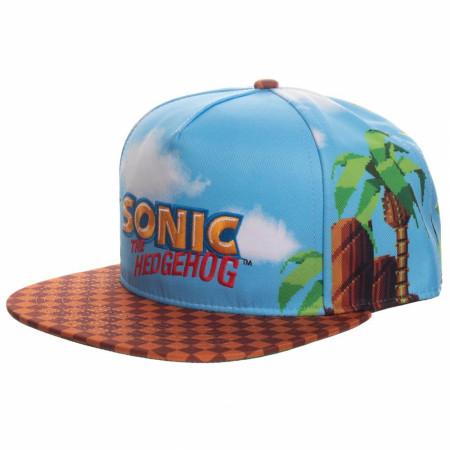Sonic The Hedgehog All Over Print Adjustable Hat