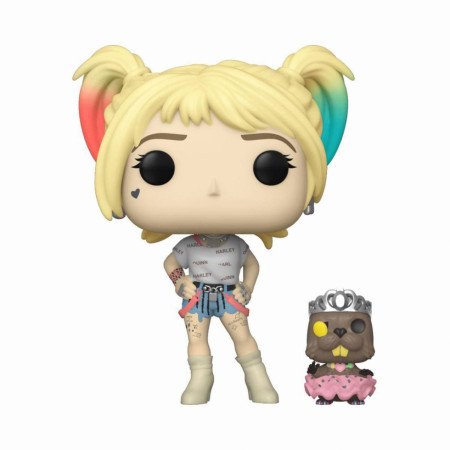 Birds of Prey Harley Quinn and Beaver Funko Pop!