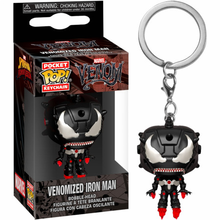 Venom and Iron Man Mashup Pop! Keychain