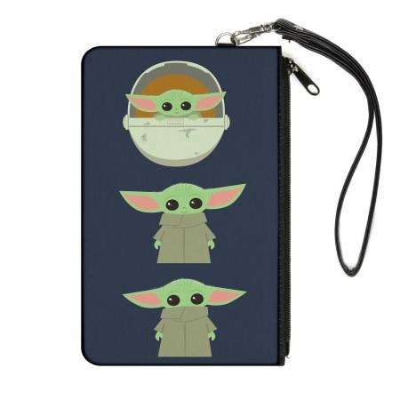The Mandalorian Baby Yoda Chibi Women's Canvas Wallet