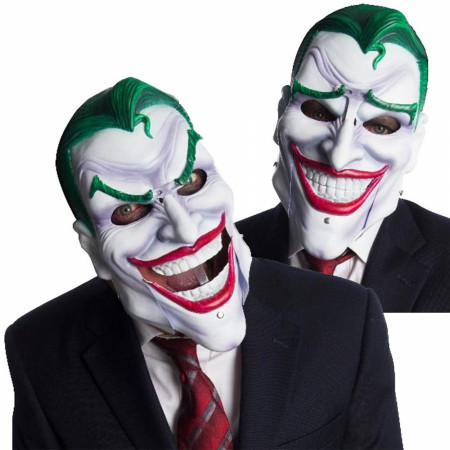 Joker Costume Mask With Moving Eyebrows and Mouth