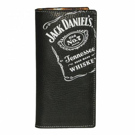 Jack Daniel's Rodeo Black Leather Wallet