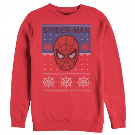 Spiderman Ugly Christmas Red Mens Long Sleeve T-Shirt