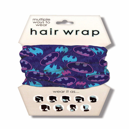 Batman Purple Hair Wrap
