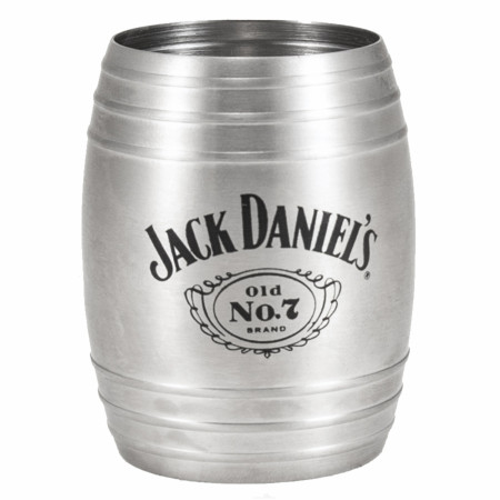 Jack Daniel's 2-Chamber Metal Barrel Jigger