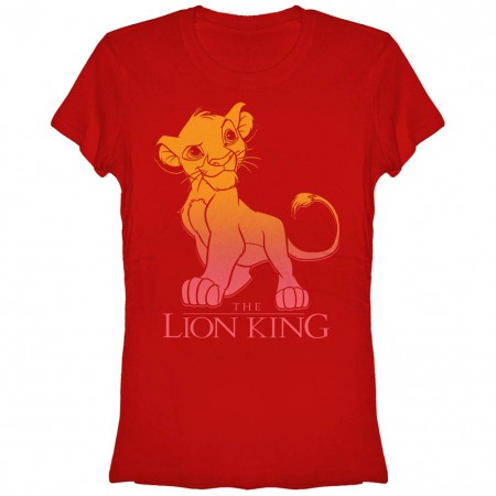 Disney Lion King Simba Fade Red T-Shirt