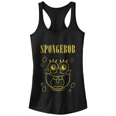 Spongebob Squarepants Nickelodeon Spongevana Black Juniors Racerback Tank Top