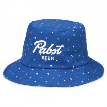 Pabst Blue Ribbon Blue Bucket Hat