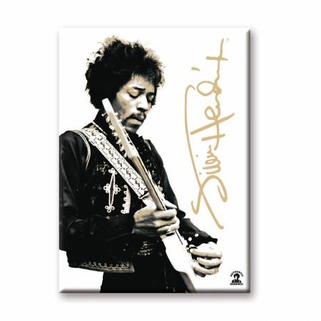 Jimi Hendrix Black And White Magnet