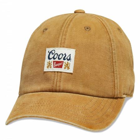 Coors Banquet Beer Golden Dad Hat